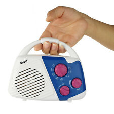 Mini Shower Radio AM/FM Manual Tuner Bathroom Hanging Music Radio Best Ship