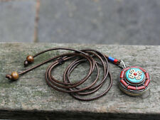 Handcrafted Vintage Tibetan Turquoise Coral Locket necklace Gift for her or him