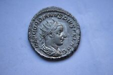 ANCIENT ROMAN GORDIAN 111 SILVER COIN 3rd CENT AD
