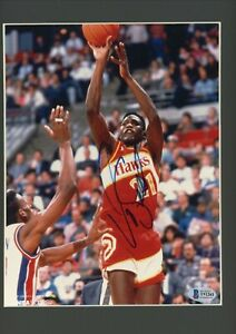 Dominique Wilkins Signed Autographed 8x10 Glossy Matted Beckett BAS