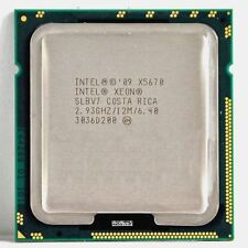 Intel XEON X5670 Six Core HEX 2.93GHz 12MB SLBV7 XEON CPU 1366 Turbo 3.33GHz