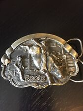 Rodeo Belt Buckle Bergamot Brass Works 1981 Numbered