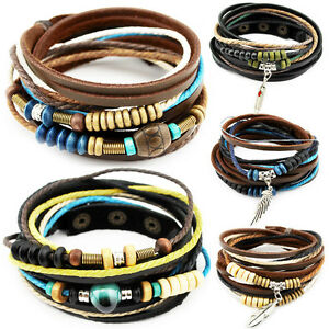 Armband Lederarmband ECHT LEDER axy Leather Bracelet!Surferarmband Wickelarmband