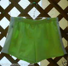 VITAL SHORTS~Green & White~Elastic Drawstring Waist~Jr. Miss Medium~FREE SHIP