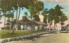 Refreshment Stand, Lookout Area, Palisades Interstate Park NJ, Hand-Colored PC