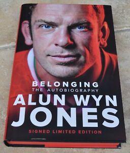 Alun Wyn Jones Signed Belonging First Edition Hardback Book Autobiography Wales