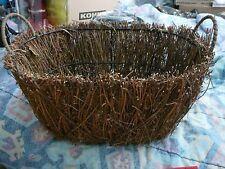 Twig woven basket, NWT