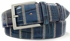 Robert Charles Patchwork Belt - Blue - Robert Charles Belt - Made In Italy