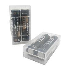 4PCS 18650 3800mAh 3.7V Li-ion Rechargeable Battery (Flat Both Ends) Holder Box