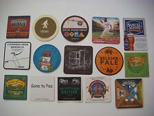 15 Beer Coasters: Great Divide,Budweiser,Samuel Adams,Cannonball,Russian River +