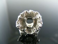 4317 Ring Setting Sterling Silver, Size 5, 8x6 Mm Faceted Or Cab. Stone