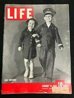 LIFE MAGAZINE - Jan 11 1943 - KIDS WWII WW2 UNIFORMS / Girls ROTC / Gibraltar