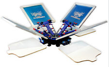 4 color 4 station Micro Registration silk screen printing machine tshirt printer