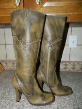 PURA LOPEZ women's Olive Green Brown KNEE HIGH BOOTS* RARE* women's 6 37