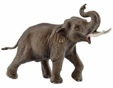 Schleich 14754 Asian Elephant Male Bull Animal Model Toy Figurine - NIP