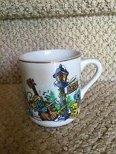 Smurfs Merry Christmas 1982 Coffee Mug - Vintage - Papa Smurf - Smurfette
