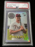 2018 Topps Heritage Chrome Dylan Cozens Rc Purple Refractor PSA 10 - Phillies RC
