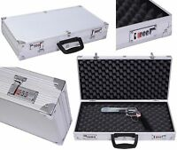 "19"" Long Aluminum Locking Rifle Gun Case Lock Shotgun Storage Box Carry Case EK"