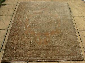 Antique Persiann hand knotted Hadji Jalili Tabrizz shabby chic 175 x 130cm