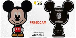 Mickey Mouse Chibi 1oz Silver Coin | PCGS PR69DCAM - POP 4 | Limited | In Hand