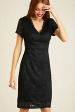 Black Fitted Lace Dress With Back Detail