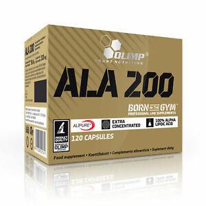 OLIMP ALA 200 120 Caps ALPHA-LIPOIC ACID, ANTIOXIDANT