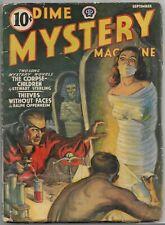 Vintage WEIRD MENACE Pulp~DIME MYSTERY MAGAZINE~Sept. 1940 Bruno Fischer+
