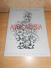 livre guitare piano partitions musique paroles FLORENT PAGNY abracadabra - neuf