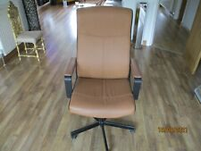 More details for ikea tan brown leather look office chair  - collection only