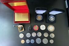 Gambling & Coin Lot Some Old Some New Coins Dice Cards