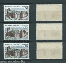 CHÂTEAU DE FOUGÈRES - 1960 YT 1236 3x - NEUFS** LUXE - COTE 9,00 €