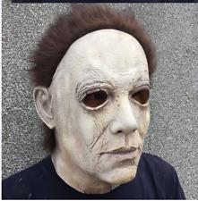 Michael Myers Halloween Latex Maske & Haare - Deluxe Horror Film Erwachsene UK