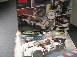 Lego Speed Champions Set 75872 Audi R18 e-tron quattro 100% Complete With Manual