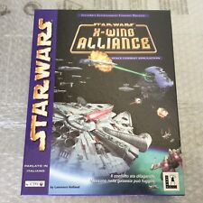 1999# VINTAGE PC GAME STAR WARS X-WING ALLIANCE TIE FIGHTER LUCASGAME#NIB