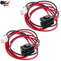 2X 4 pin 12AWG DC power cable Yaesu Icom IC-7100 IC-7300 IC-7000 IC-7610 Alinco