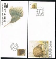 New Zealand 1989/91 Birds /Kiwi on 3 covers nice used (FDC)
