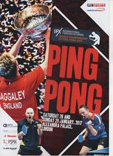 2017 Campeonato Mundial de Ping Pong programa oficial: Tenis De Mesa/Ping Pong