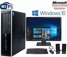 "FAST HP Desktop PC DUAL Core 3.0Ghz 8GB 250GB WIN 10 19"" LCD Monitor + WIFI"