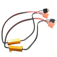 2X H7 50W 6Ohm LED DRL Fog Light Canbus Load Resistor Wiring Harness DC 12-24V