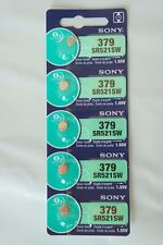 5x Sony 379, SR521SW Watch Battery 0% Mercury EXPIRE 05/2020 or later