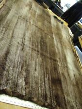 """New Refurbished Knitted Sheared Beaver Fur Blanket Throw 40"""" By 70"""""""