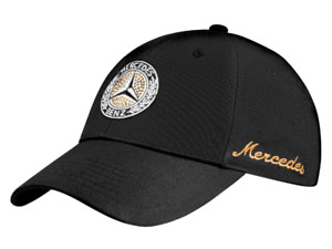 Mercedes-Benz Baseball Cap Classic Star by Swarovski Black B66041517 Genuine New