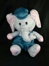 "Potpourri Press Puffalump Gray Elephant 18"" Overall & Hat Blankie Plush Ex. Cond"
