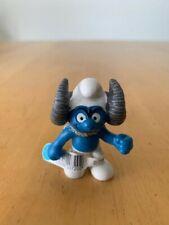 Smurfs 20720 Aries Smurf Ram Astrology Zodiac Vintage Schleich Figure Toy PVC