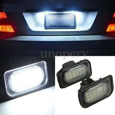 2x 18 LED Bulb License Number Plate Light for Benz C E Class W203 W211 W219 R171