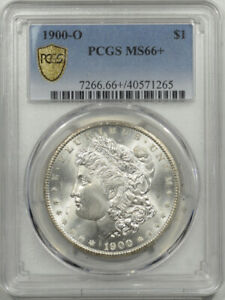 1900-O MORGAN DOLLAR - PCGS MS-66+ BLAZING WHITE SUPERB GEM!