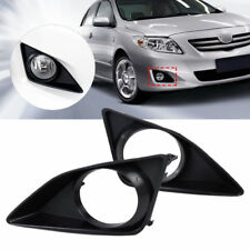 For 2007-2010 Toyota Corolla Pair Front Fog Light Lamp Grille Cover Bezel