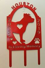Personalized Dog Memorial Grave Marker Cemetery Breed Name Date Plasma Metal Art