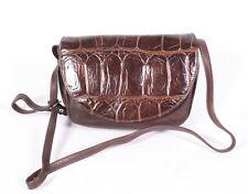 #15B ABRO Damen Tasche Leder braun Umhängetasche Vintage Boho Krokolook