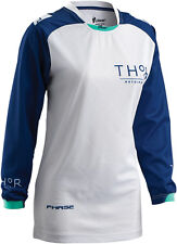 Thor Riding Race MX Motocross Women's Jersey S6W Clutch Navy/White Small
